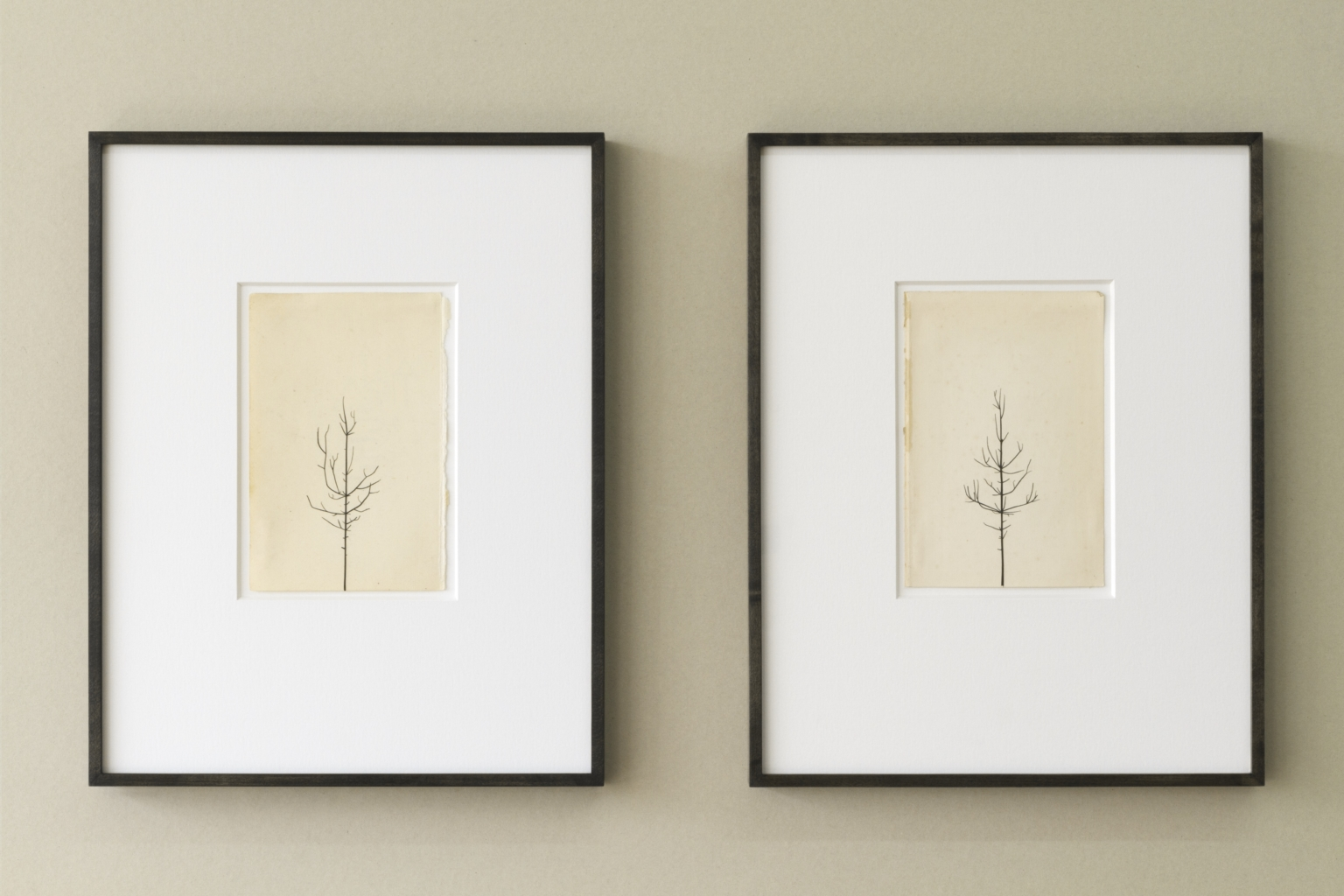 Peter Liversidge, Winter Drawing 15vs14; Winter Drawing 18vs16, 2017, £6000 (these works are unique). Copyright 2017, the artist. All rights reserved