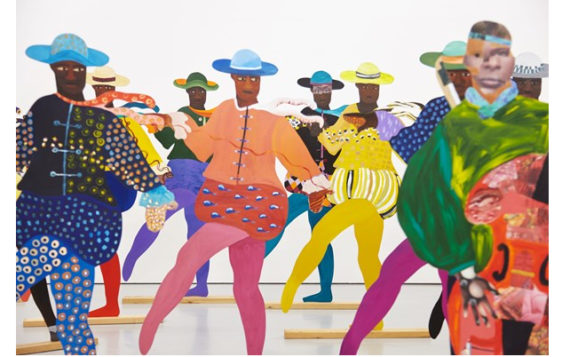 Lubaina Himid, Naming the Money, 2004. Life-size painted cut-out plywood figures, audio. Loaned by the National Museums Liverpool, International Slavery Museum, and the artist. Photo: Spike Island