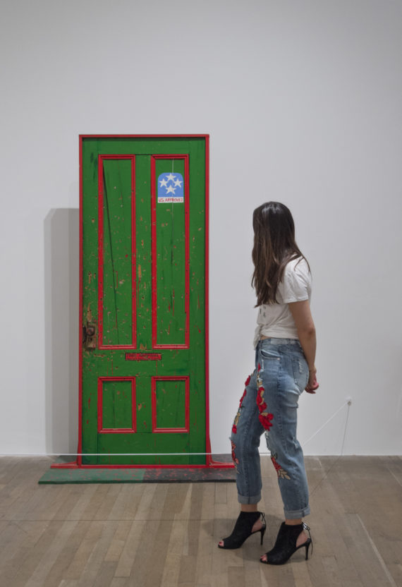 Dana C. Chandler Jr Fred Hampton's Door 2 1975 Acrylic paint on wood 1900 x 900 mm © Professor Dana Chandler Photo: Tate Photography. Soul of a Nation: Art in the Age of Black Power Tate Modern, 12 July – 22 October 2017