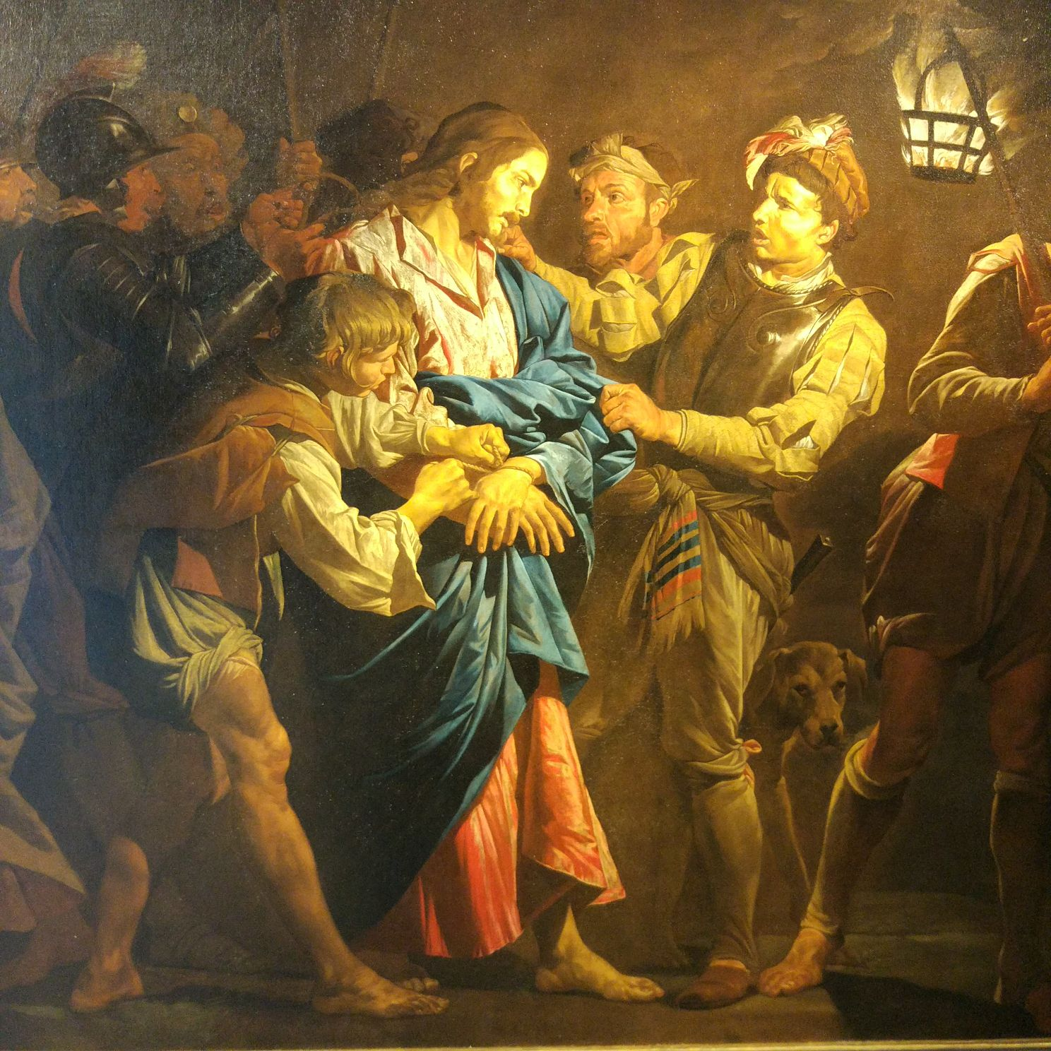 The Capture of Christ, Matthias Stomer , circa 1600 - Northern Italy (?), after 1649), Oil on canvas, 272 x 208 cm
