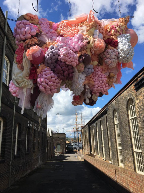 Luiza Jordan, Installation, 2017, Chatham Dockyard. Photo: Matt Bray