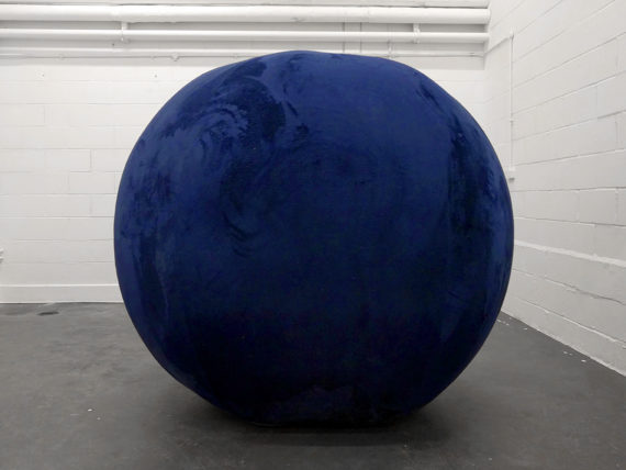 Yuen-Ying Lam, My affectionate ball provides safety and comfort and encourages competence and self-reliance, 2016 Fleece fabric, vinyl 180 x 190 x 190 cm