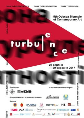 Poster of the 5th Odessa Biennale, Turbulence
