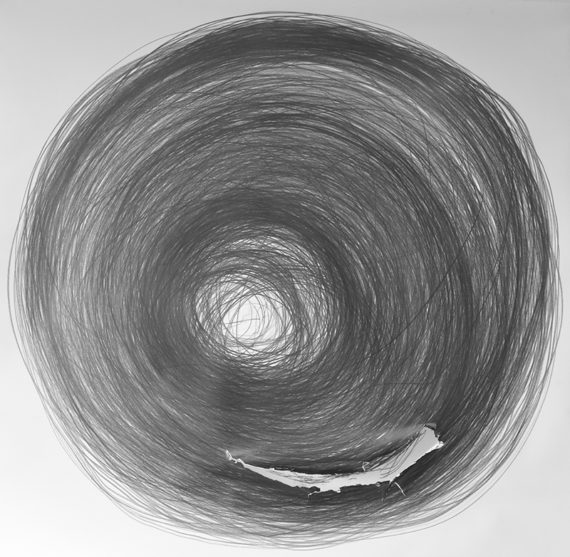 Carali McCall, Work no. 1 (Circle Drawing) 2 hours 48 minutes. Image courtesy of the artist