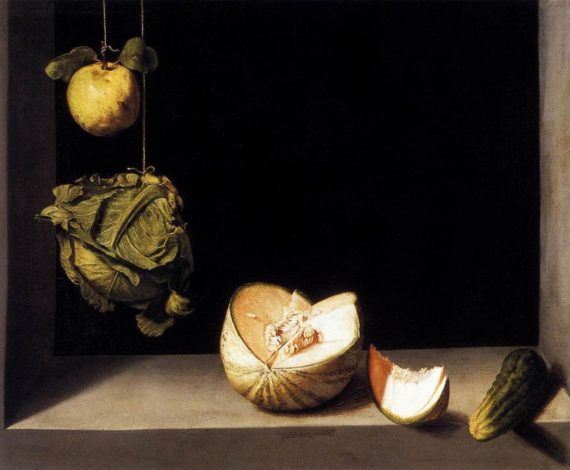 Still Life with Quince mMelon Cabbage and Cucumber