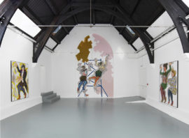 Ella Kruglyanskaya, How to work together, installation view, 2014. Courtesy: the artist and Studio Voltaire, London; Photo: Andy Keate