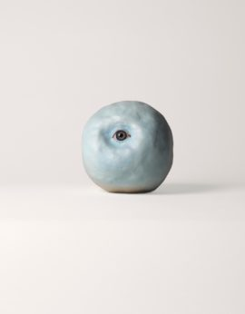 Jonathan Baldock, Eye Staring, 2010-14. Ceramic, clay, glass eye, paint. Courtesy the artist and Belmacz. Photo: Matthew Hollow