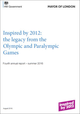 Inspired by 2012: the legacy from the Olympic and Paralympic Games