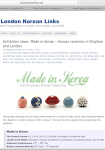 London Korea links The Ceramic House