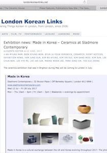 London Korea links Sladmore Contemporary