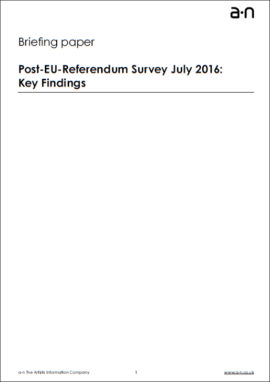 Post-EU-Referendum survey July 2016: Key findings