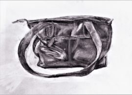 My Bag. (Artist's own) Pencil on paper.