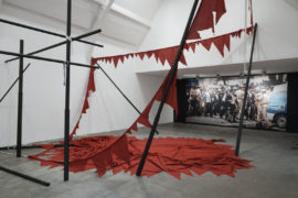 Sheela Gowda, installation view at Ikon Gallery, 2017. Courtesy: the artist and Ikon. Sheela Gowda at Ikon Gallery, Birmingham, 16 June - 3 September 2017, ikon-gallery.org