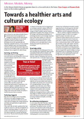 Towards a healthier arts and culture ecology