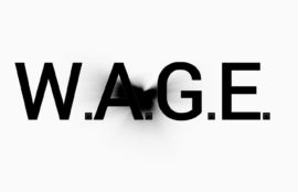 Screengrab of W.A.G.E. website homepage, August 2017 (http://wageforwork.com/)