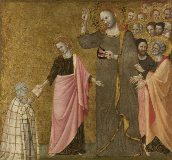 Giovanni Da Rimini, The Vision of the Blessed Clare of Rimini, probably around 1333-40. © The National Gallery, London