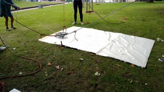 analog drawing machine at figment derby