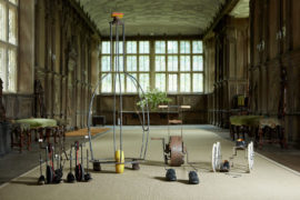 Nik Ramage, Tap-Along, Grace, Shoe Shuffle and Pedal Shoes in the Long Gallery at Haddon Hall.  Photo: Ian Daisley