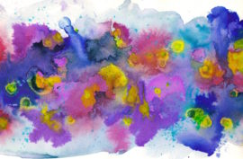 Pinks, Blues, Purples and Yellows make this abstract image