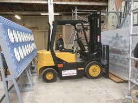 A very skilled forklift driver!