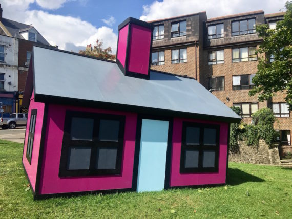 Richard Woods, Holiday Home. Commissioned by the Creative Foundation for Folkestone Triennial 2017. Photo: Fisun Güner