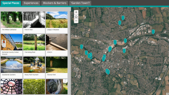 AiR Taunton - StoryMap by artist in residence Michelle Rumney looking at special places in Taunton