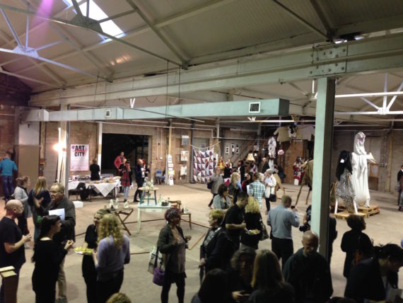 The ArtCity launch event, Stoke-on-Trent, September 2014. Photo: Trevelyan Wright
