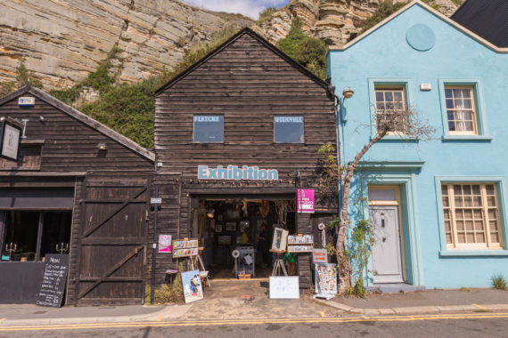 Black Winkle Studio, Rock-a-Nore Hastings. Part of Coastal Currents Arts Festival Open Studios,  Hastings UK, September 2017. Photo: Alexander Brattell