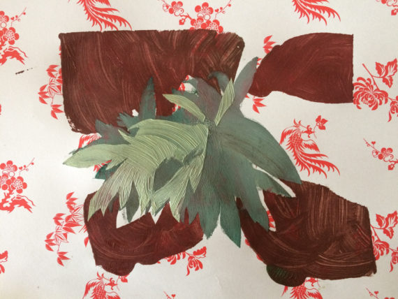 plant form on Chinese wrapping paper #6