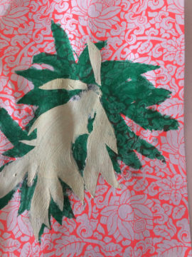 plant form on chinese wrapping paper #1