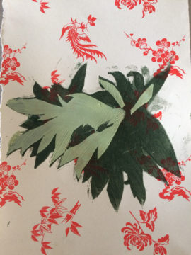 plant form on chinese wrapping paper #2