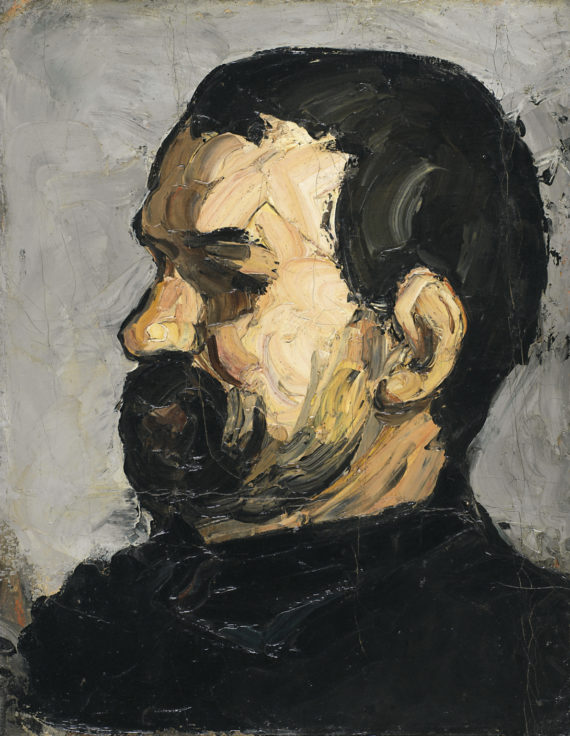 Uncle Dominique. Cezanne, Paul (French, 1839-1906). Oil on canvas, height 39.0 cm, width 30.5 cm, circa 1866.