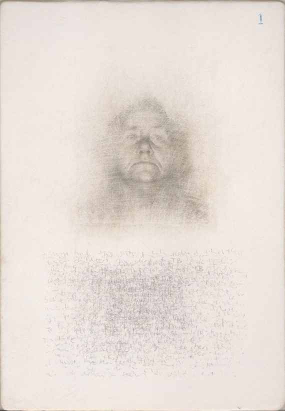 240dpi, Roy Eastland, 'Photo booth portrait 1', silverpoint