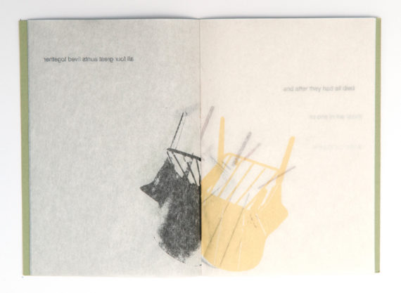 Caroline Penn, Chair Stories No.5. Digital print on Japanese paper, edition of 20