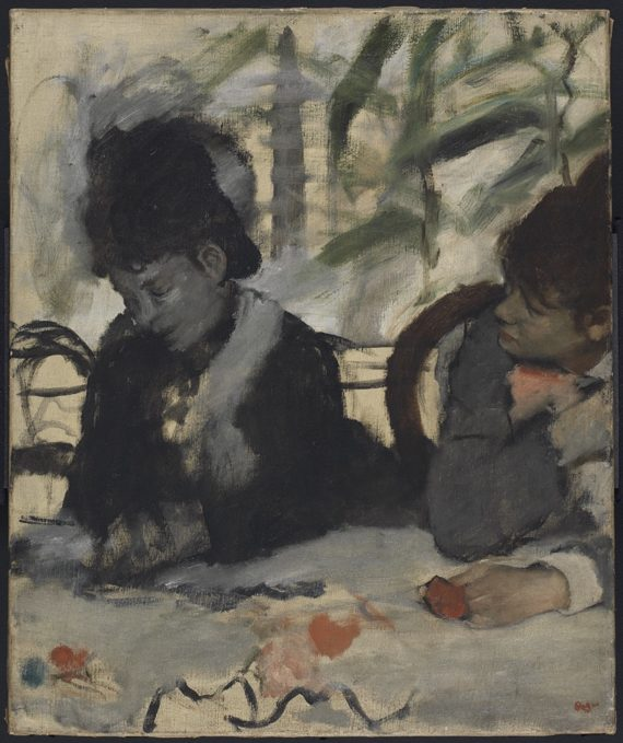 Degas, Au Cafe, 1875. Copyright: Fitzwilliam Museum
