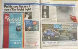 Double-page spread in the Chronicle. 25th September 2017