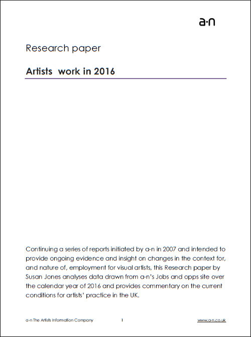 Research papers Artists work in 2016