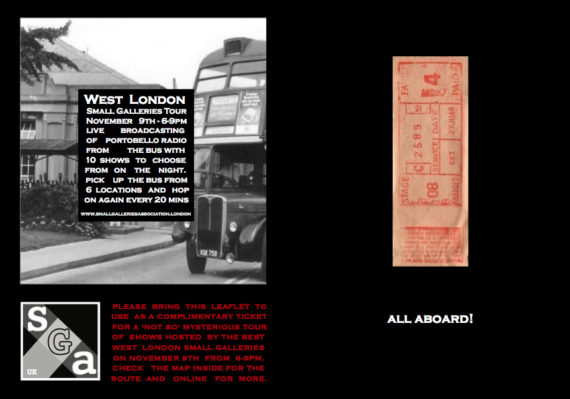 West London Galleries Free Bus Tour, flyer