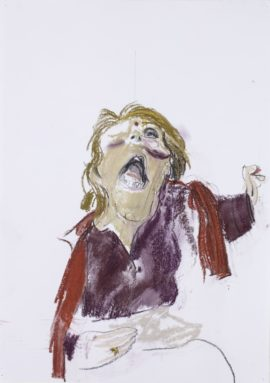 Paula Rego, Self Portrait III, 2007. Pastel on paper. Copyright: the artist. Photo copyright: Marlborough Fine Art, London