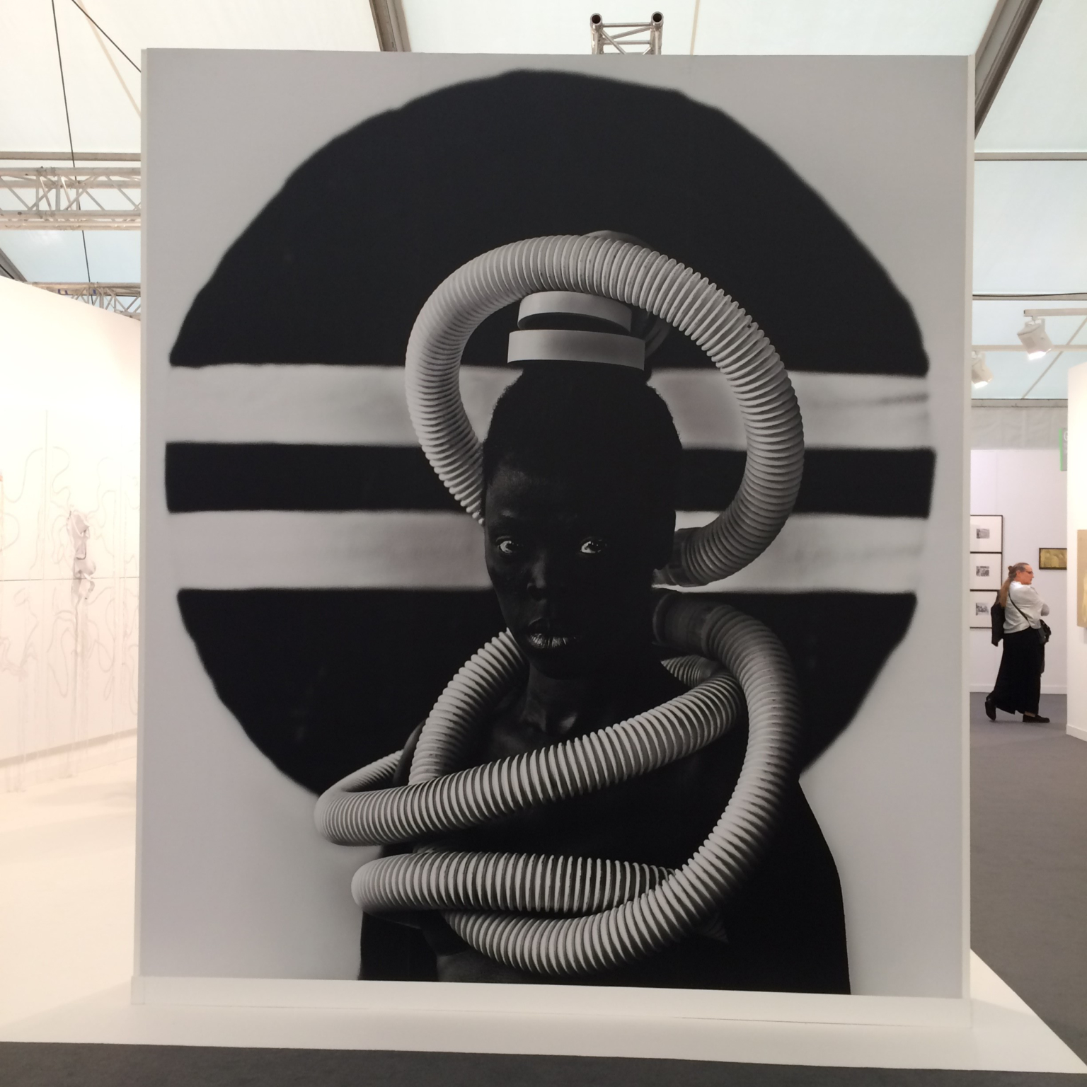 Zanele Muholi at Stevenson gallery, Frieze London 2017. Photo: Chris Sharratt