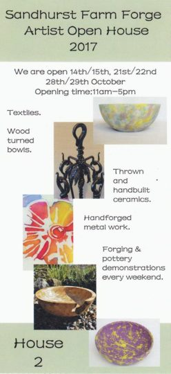 Artist open House- Sandhurst Farm Forge