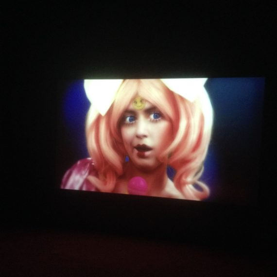 Feed Me (2015) Rachel Maclean Piece exhibition in 'I Want! I Want! Art & Technology' at Birmingham Museum and Art Gallery