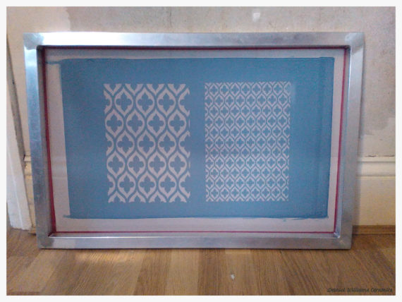New silk screen with reticulated tracery design