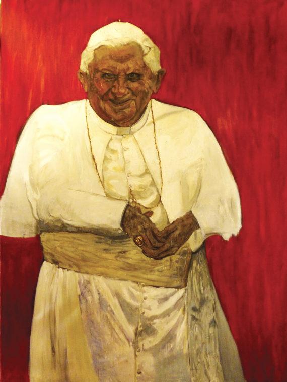 Ratzinger Revisited, Oil on canvas, 320x170cm, by Rodolfo Villaplana.