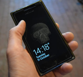 Jeff Zimmer, 21st Century Memento Mori - etched mobile phone screen