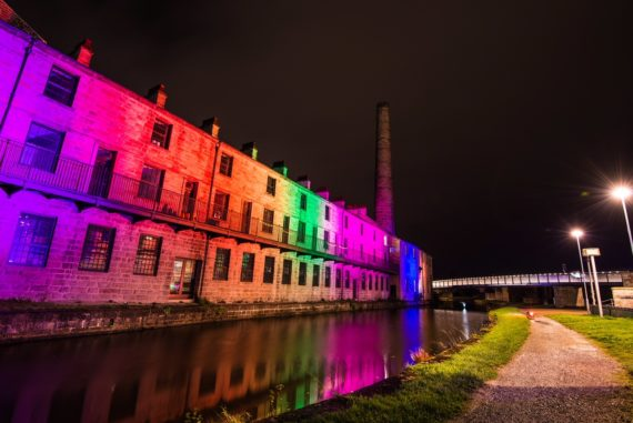 Burnley Illuminated - Leeds & Liverpool Canal. Courtesy: Super Slow Way