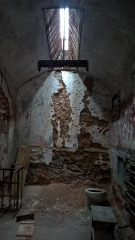 A view into a cell at the Eastern State Penitentiary