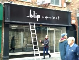 ...blip, temporary art space in Grimsby