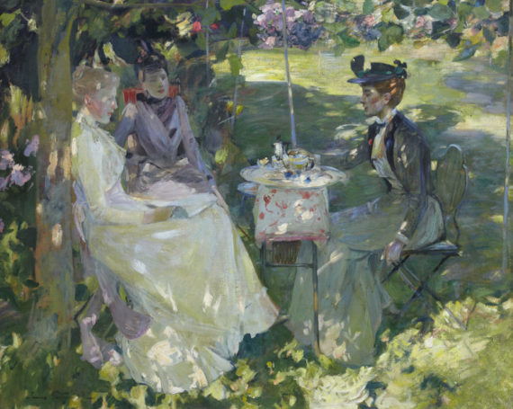 Sir James Guthrie HRA PPRSA HRHA (1859-1930), Midsummer, 1892. Oil on canvas, 101.8 x 126.2cm. Royal Scottish Academy of Art & Architecture (Diploma Collection), RSA Diploma Deposit, 1893. Image credit: Andy Phillipson