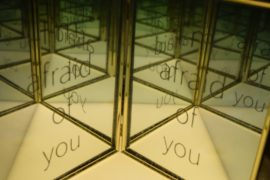 "Jeff Zimmer, ""I'm Afraid of You"" - etched mirrors"